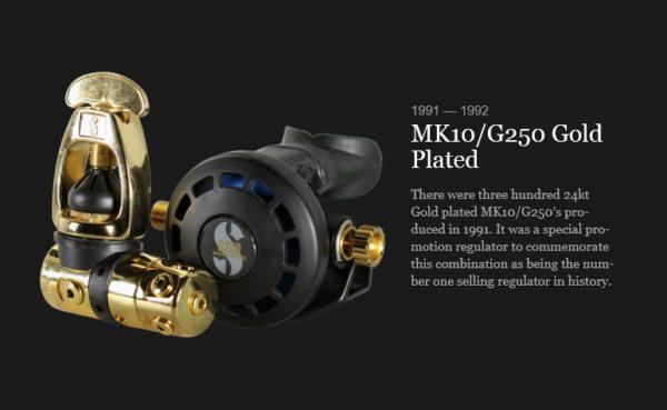 "Col. Scubapro MK10 Gold G250 Edition ""Promotion"" 1991 -990"
