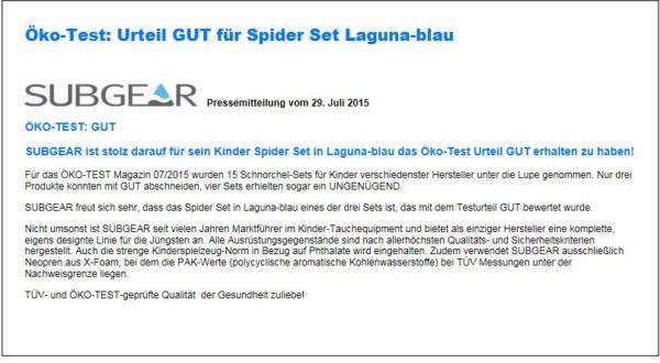 Scubapro Kinderset Spider-859
